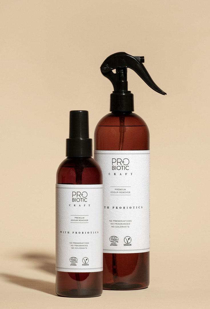 Odour remover with probiotics